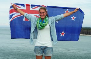 Paula Rogge in Neuseeland. Foto: Privat