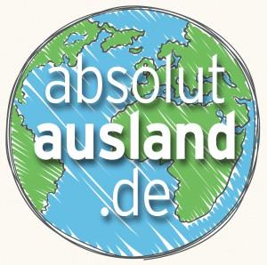 absolutausland.de Logo creme Hintergrund